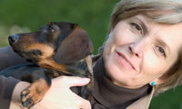 mid-life divorced woman with dog